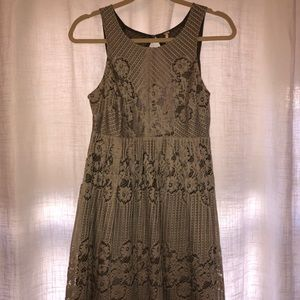 Free People Lace Dress with Open Back